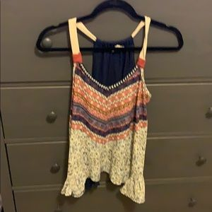 Multicolored and print tank top